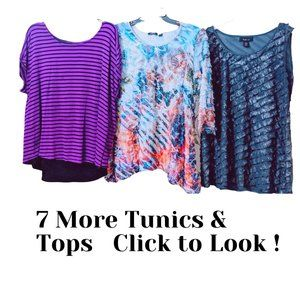 Lot of 10 Career Casual Tops Tunics Blouses Size L